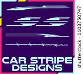 tribal and cool car stripe... | Shutterstock .eps vector #1103750747