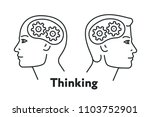 creative thinking idea human... | Shutterstock .eps vector #1103752901