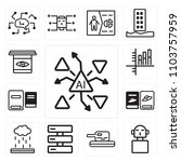 set of 13 icons such as ai ...