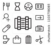 set of 13 icons such as video ...