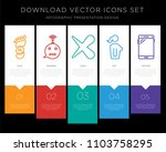 5 vector icons such as carbon... | Shutterstock .eps vector #1103758295