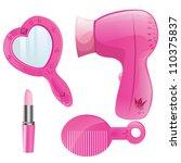 vector pink beauty collection... | Shutterstock . vector #110375837