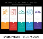 5 vector icons such as... | Shutterstock .eps vector #1103759021