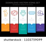 5 vector icons such as naked... | Shutterstock .eps vector #1103759099