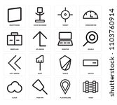 set of 16 icons such as video ...