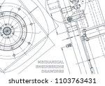 blueprint. vector engineering... | Shutterstock .eps vector #1103763431