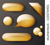vector set of golden shiny... | Shutterstock .eps vector #110376401