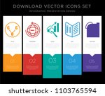 5 vector icons such as carbon... | Shutterstock .eps vector #1103765594