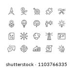 simple set of startup related... | Shutterstock .eps vector #1103766335