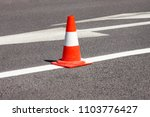 work on road. construction cone.... | Shutterstock . vector #1103776427