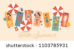 summer vacation banner design... | Shutterstock .eps vector #1103785931