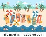 summer vacation banner design... | Shutterstock .eps vector #1103785934