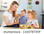 be mindfulness with children... | Shutterstock . vector #1103787359