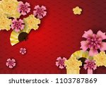 paper art of chinese... | Shutterstock .eps vector #1103787869