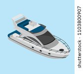 isometric yacht  simple vector... | Shutterstock .eps vector #1103800907