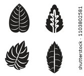 collection of leaves. vector... | Shutterstock .eps vector #1103802581