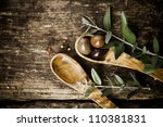 Olive Wood Spoons With Fresh...