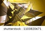 polygonal gold mosaic... | Shutterstock . vector #1103820671