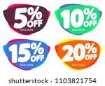 set sale tags  bubble banners... | Shutterstock .eps vector #1103821754