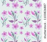 seamless floral botanical... | Shutterstock . vector #1103826887