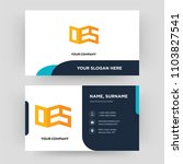 oes  business card design... | Shutterstock .eps vector #1103827541
