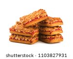 cookies with jam isolated on a... | Shutterstock . vector #1103827931
