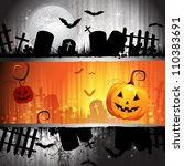 halloween card design with... | Shutterstock .eps vector #110383691