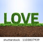 grass growing in the shape of... | Shutterstock . vector #1103837939