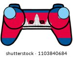 a retro gaming controller with... | Shutterstock . vector #1103840684