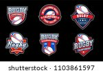 rugby american badge logo sport | Shutterstock .eps vector #1103861597