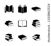 simple books icon series in... | Shutterstock .eps vector #1103862524