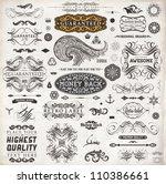 calligraphic design elements ... | Shutterstock .eps vector #110386661