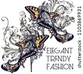 fashion vector set with stylish ... | Shutterstock .eps vector #1103869931