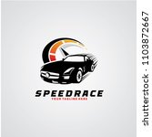 speed race logo design template | Shutterstock .eps vector #1103872667