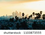 downtown los angeles skyline at ... | Shutterstock . vector #1103873555