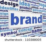 Постер, плакат: Brand slogan message design