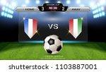 soccer football scoreboard  ... | Shutterstock .eps vector #1103887001