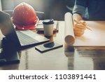 architect design concept ... | Shutterstock . vector #1103891441