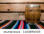 Old Barrel Over A Mexican Tapete