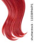 red hair on white background  | Shutterstock . vector #1103896691