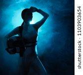female astronaut spatial... | Shutterstock . vector #1103903654