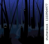 scary haunted forest   Shutterstock .eps vector #1103904977