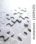 Stock photo white puzzle 110391251