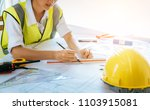 architect or engineer working... | Shutterstock . vector #1103915081