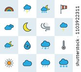 climate icons colored line set... | Shutterstock .eps vector #1103922311