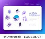 flat isometric vector concept... | Shutterstock .eps vector #1103928734