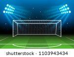 soccer stadium. football arena | Shutterstock . vector #1103943434