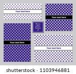 flowers pattern a5 brochure set ...   Shutterstock .eps vector #1103946881