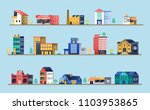 set of city buildings. bank ... | Shutterstock . vector #1103953865