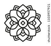 simple mandala shape for... | Shutterstock .eps vector #1103957921